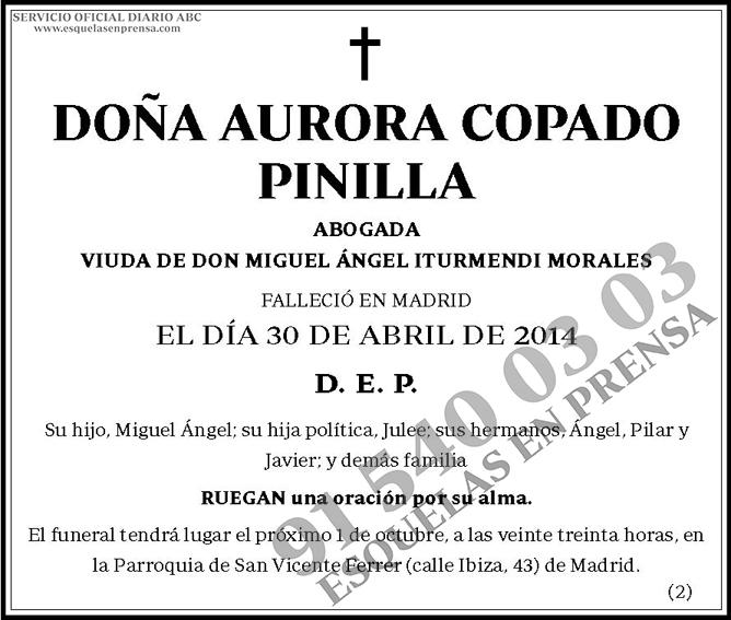 Aurora Copado Pinilla